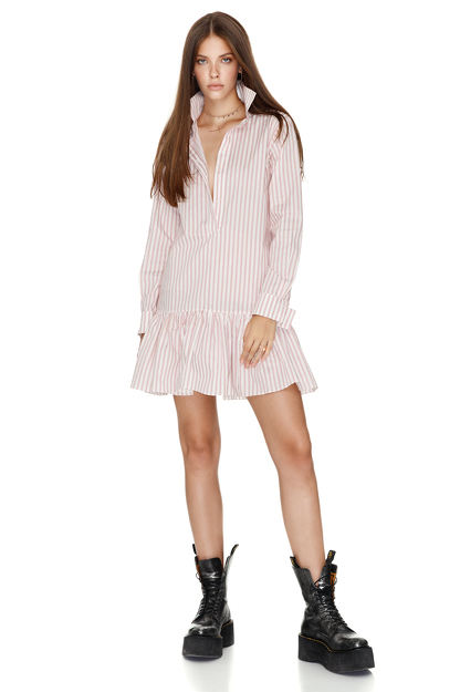 Cotton Striped Mini Dress