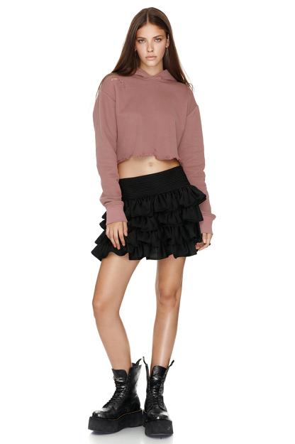 Dusty Pink Hooded Sweatshirt