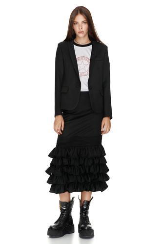 Black wool jacket - PNK Casual
