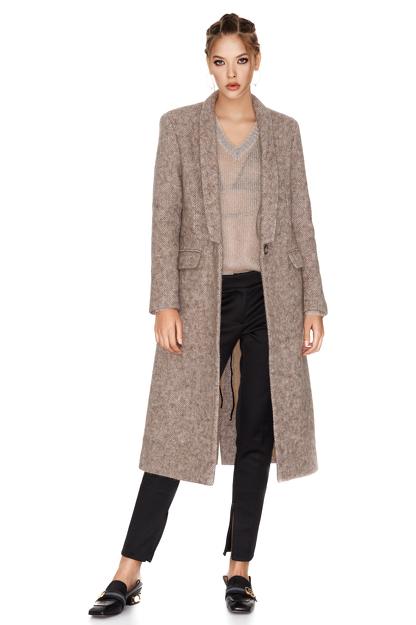 Soft Pink Midi Coat