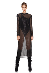Black Sequins Midi Dress
