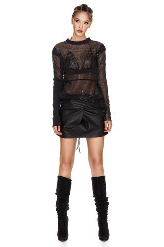 Black Sequins Blouse - PNK Casual