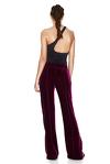 Fuchsia Velvet Pants With Side Cut