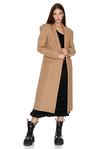 Soft Brown Midi Coat