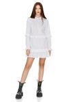 Ruffles Striped Cotton Mini Dress
