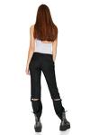 Black Cutout Wool Pants