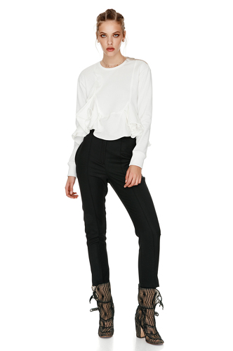White Top With Ruffles - PNK Casual