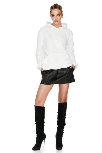 White Hooded Sweatshirt - PNK Casual