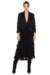 Black Silk Midi Skirt