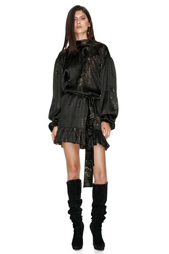 Black Backless Silk Mini Dress - PNK Casual