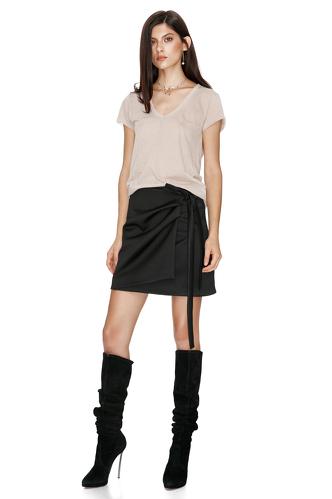 Beige Soft Jersey T-shirt - PNK Casual