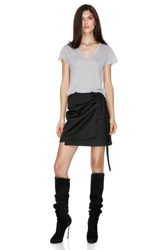 Grey Cotton T-shirt - PNK Casual
