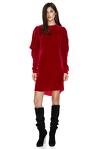 Red Backless Velvet Mini Dress