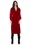 Red Velvet Wrap Dress