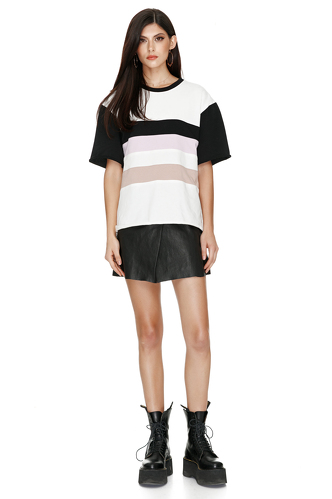Multicolor Cotton T-shirt - PNK Casual