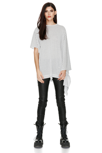 Striped Cotton Blouse - PNK Casual