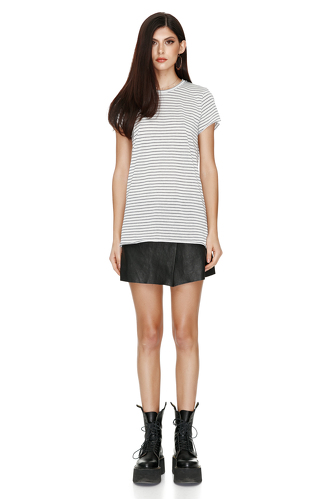 Striped Cotton T-shirt - PNK Casual