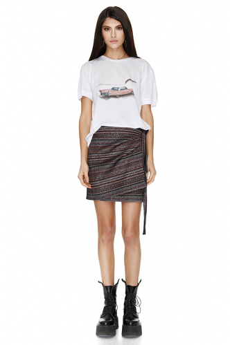 Jacquard Mini Skirt - PNK Casual