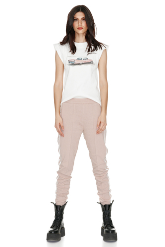 Beige Track Pants - PNK Casual